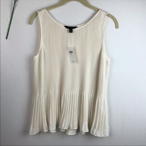 Banana republic cream white pleated tank top
